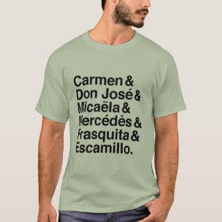 Carmen characters t-shirt