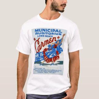 Carmen Long Beach 1938 WPA T-Shirt