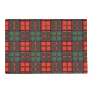 Carmichael clan Plaid Scottish kilt tartan Laminated Place Mat