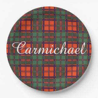 Carmichael clan Plaid Scottish kilt tartan Paper Plate