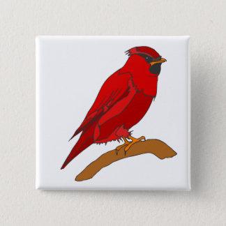 Carmine Cardinal 15 Cm Square Badge