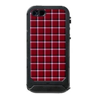 Carmine Red Check Pattern Incipio ATLAS ID™ iPhone 5 Case