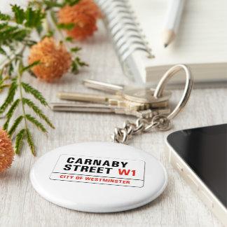 Carnaby Street London Street Sign Keychains