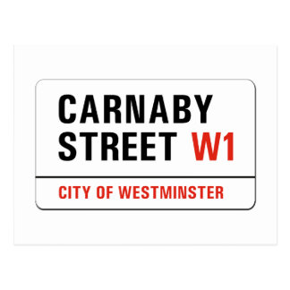Carnaby Street, London Street Sign Postcard