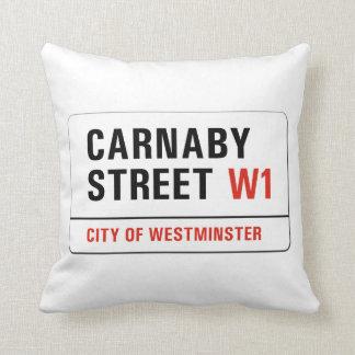 Carnaby Street, London Street Sign Throw Pillow