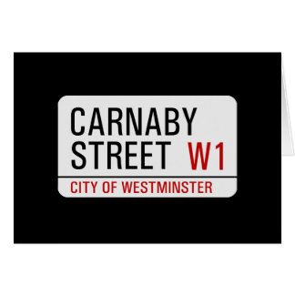 Carnaby Street sign Greeting Card