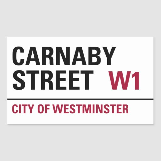 Carnaby Street Sign (pack of 4) Sticker