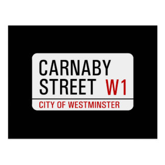 Carnaby Street sign Postcard