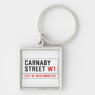 Carnaby Street Silver-Colored Square Key Ring