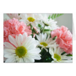 Carnation and Daisy Bouquet Greeting Cards