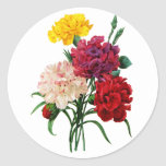 Carnation and Marigold Bouquet by Redoute Round Sticker