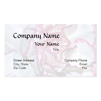 Carnation Background Business Card