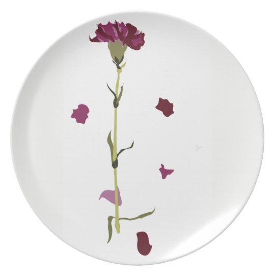 Carnation Delight Plate