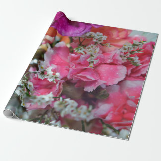 """Carnation Flowers Wrapping Paper, 30"""" x 6' Wrapping Paper"""