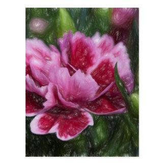 carnation in the garden postcard