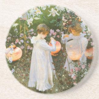 Carnation, Lily, Lily, Rose By John Singer Sargent Beverage Coasters