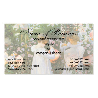 Carnation, Lily, Lily, Rose by John Singer Sargent Business Card Templates