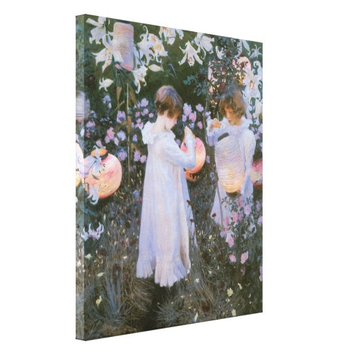 Carnation, Lily, Lily, Rose By John Singer Sargent Gallery Wrapped Canvas