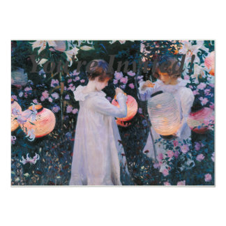 Carnation, Lily, Lily, Rose by John Singer Sargent 11 Cm X 16 Cm Invitation Card
