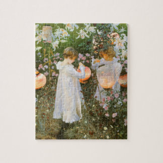 Carnation, Lily, Lily, Rose By John Singer Sargent Jigsaw Puzzle
