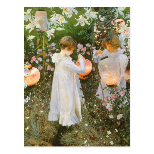 Carnation, Lily, Lily, Rose By John Singer Sargent Postcards