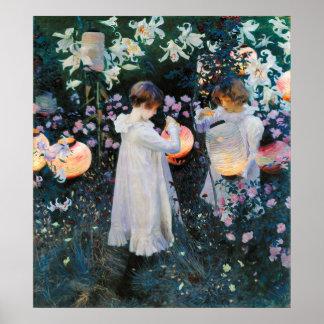 Carnation Lily Lily Rose - John Singer Sargent Print