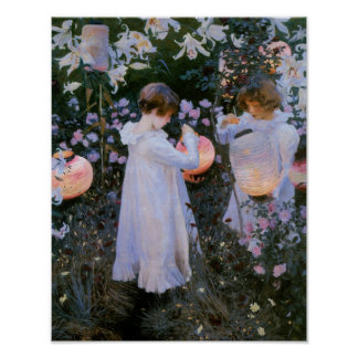 Carnation, Lily, Lily, Rose Poster