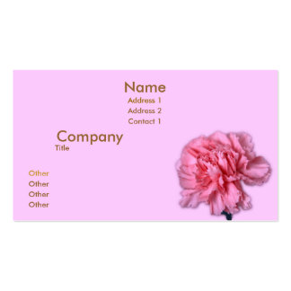 Carnation Pack Of Standard Business Cards