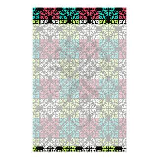 carnation pink lime aqua sweet damask squares customised stationery