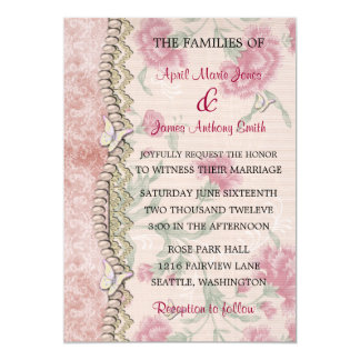 Carnation Sweet 13 Cm X 18 Cm Invitation Card