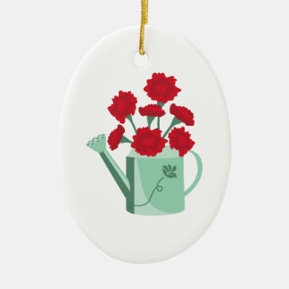 Carnation Watering Can Christmas Ornament
