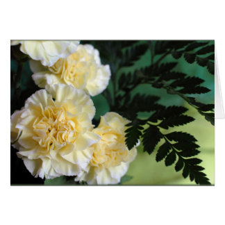 """""""Carnations and Ferns"""" Card"""