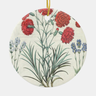 Carnations and Lavender: 1.Caryophyllus maximus pl Christmas Ornament