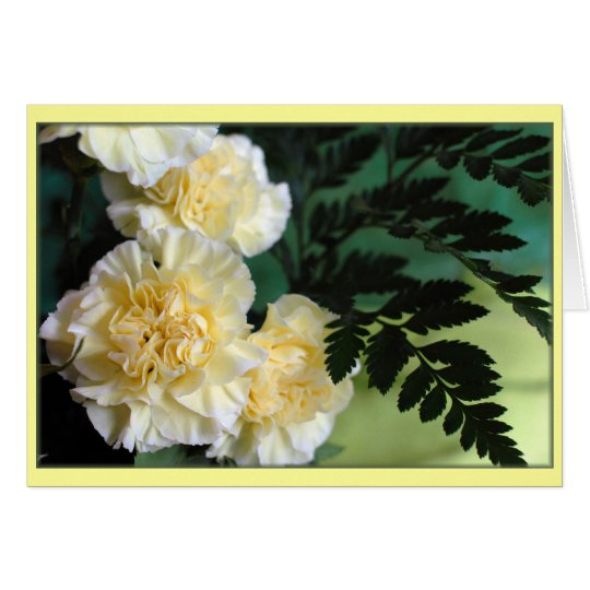 """Carnations"" Card"