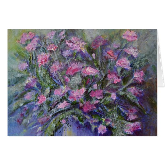 """Carnations"" Floral Art Card"