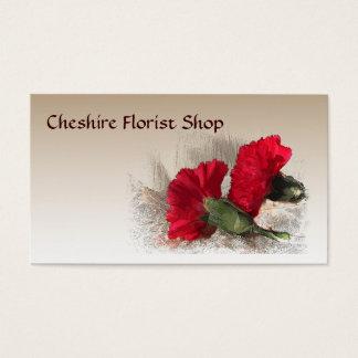 Carnations Florist Business Card