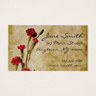 Carnations Grunge Business Card