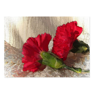 Carnations on Brocade ATC Pack Of Chubby Business Cards