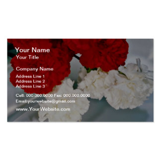 Carnations on silk  flowers business card templates