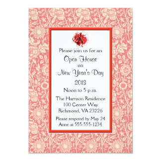 Carnations Open House New Year's Day Card