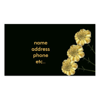carnations pack of standard business cards