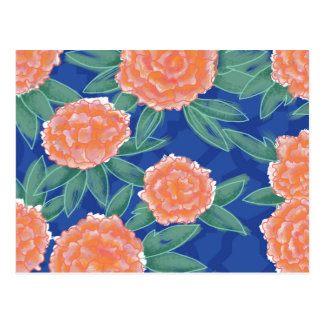 """""""Carnations"""" Vintage Flower Illustration Poster Postcard"""