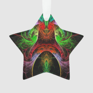 Carnaval Abstract Art Acrylic Star Ornament