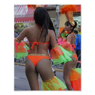 Carnaval Carnival Parade Performers Thongs Sexy Poster