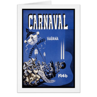 Carnaval Habana travel poster Card