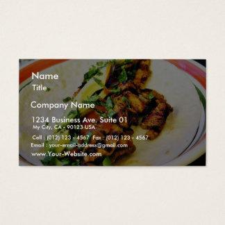 Carne Asada Tacos Business Card
