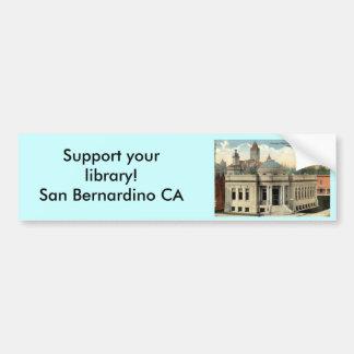 Carnegie Library San Bernardino CA Vintage c1915 Bumper Sticker
