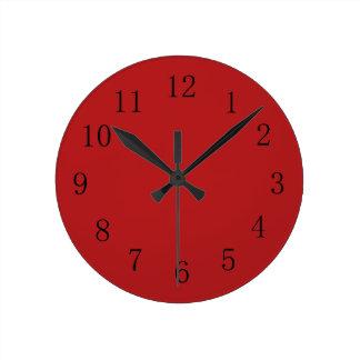 Carnelian Red Kitchen Wall Clock