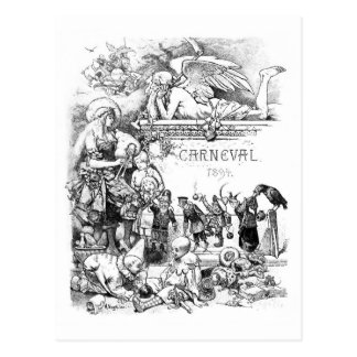 Carneval 1894 Vintage postcard