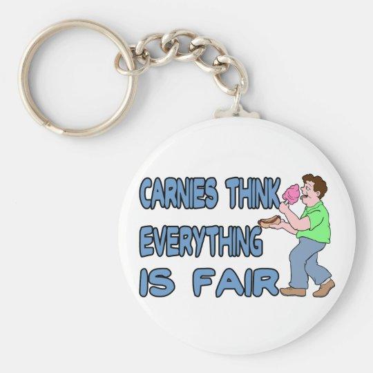 Carnies Think Basic Round Button Key Ring
